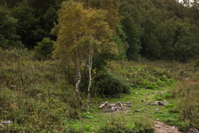 Привал на поляне около водопада Фишт, Водопадистый