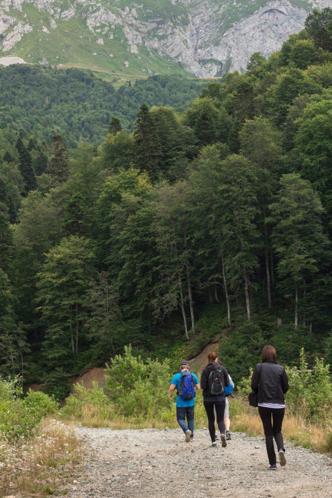 Горная тропа к Водопадистому, Кубань, Краснодарский край