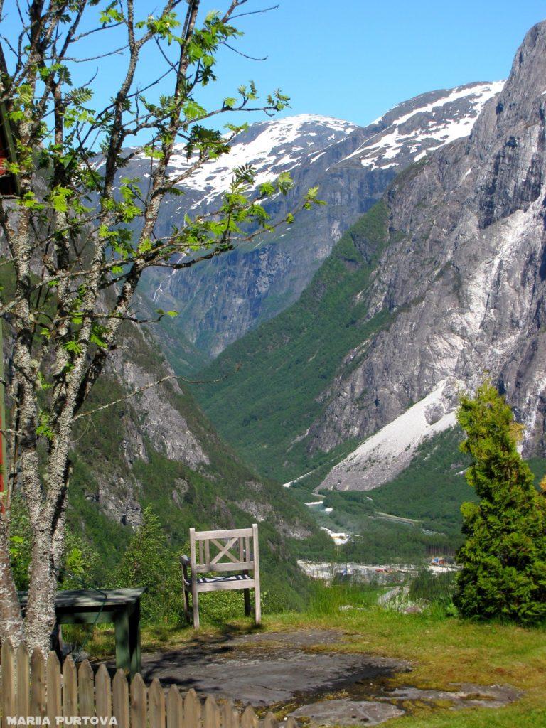 Природа Норвегии, красивое место посидеть