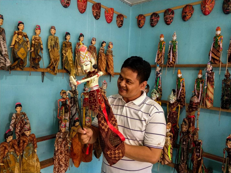 Мастерская кукол Ваянг, остров Ява