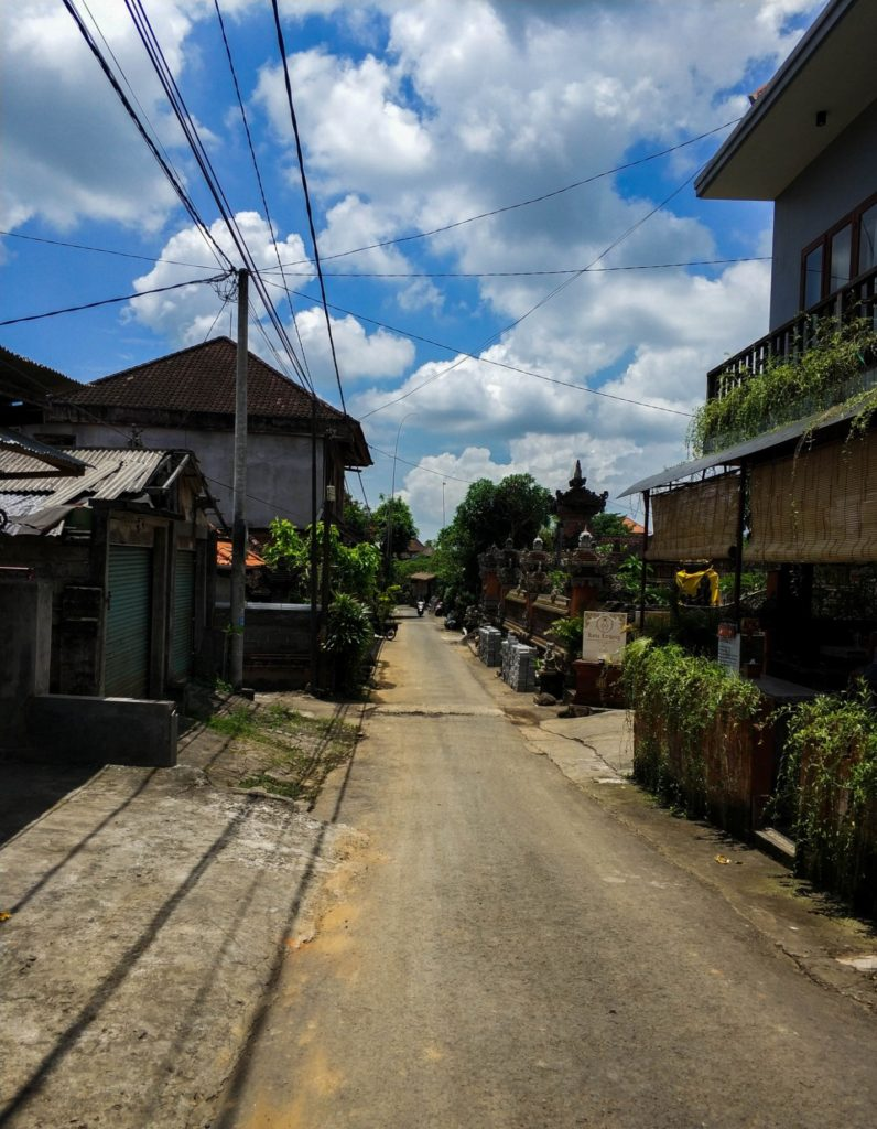 Улица в городе Убуд, Бали