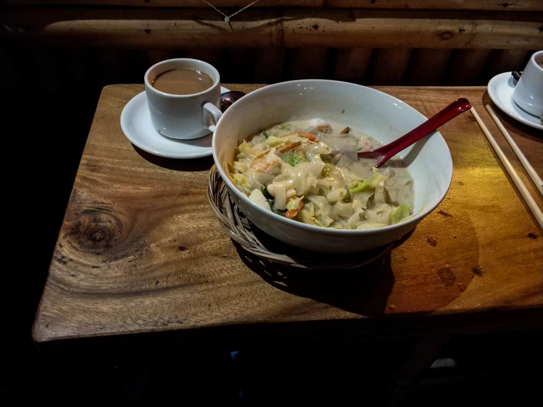Ужин на Бали. Лапша с креветками