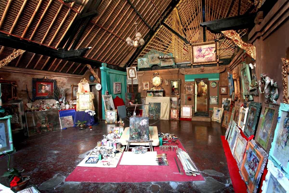 Дом-музей Антонио Бланко, Убуд, Бали. Мастерская