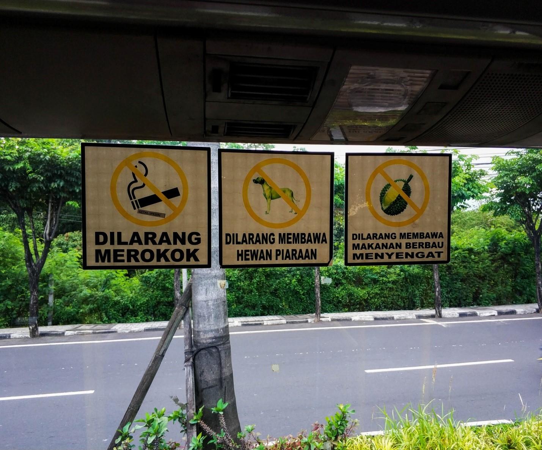Автобусная остановка на Бали
