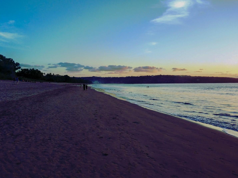 Закат на пляже на Бали