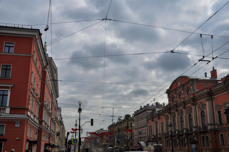 В районе Аничкова моста, Санкт-Петербург