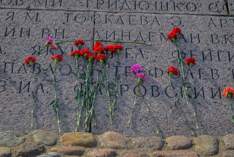 Цветы у вечного огня, Кронштадт