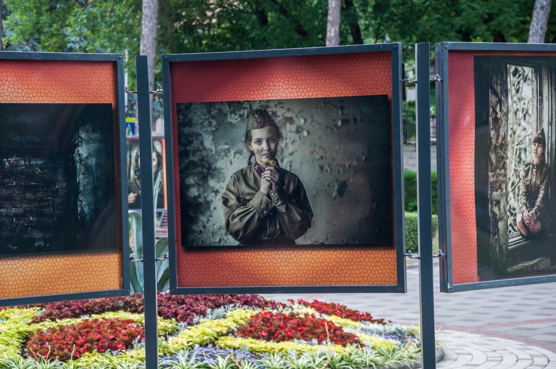 Военные фотографии в центре Пятигорска