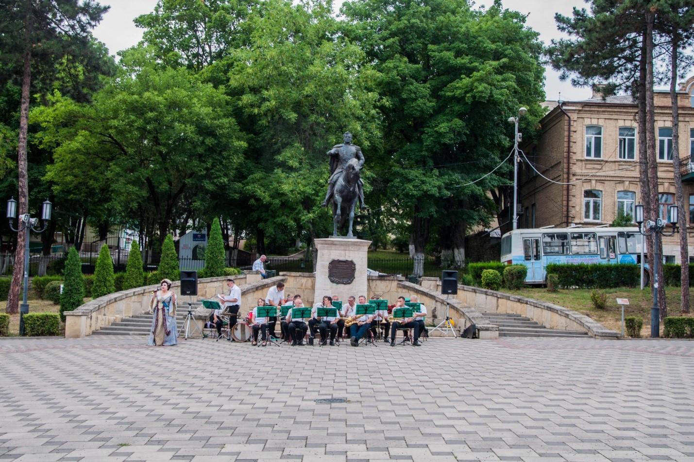 Оркестр в центре Пятигорска