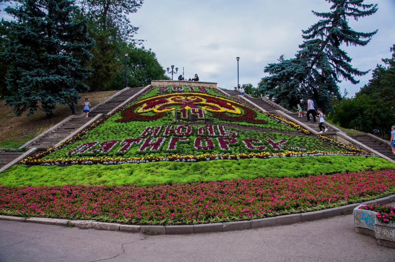 Живой календарь из цветов в Пятигорске