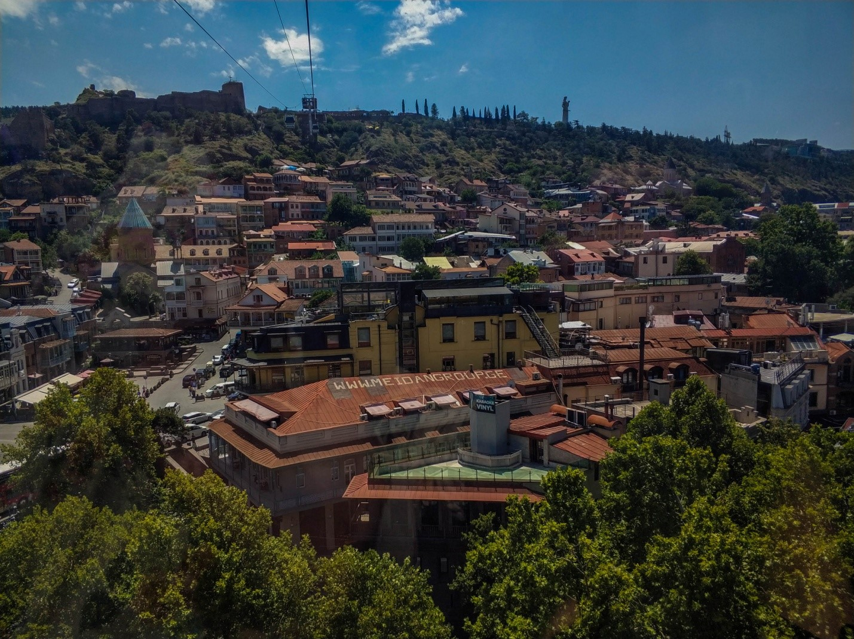 Канатная дорога к крепости Нарикала, Тбилиси