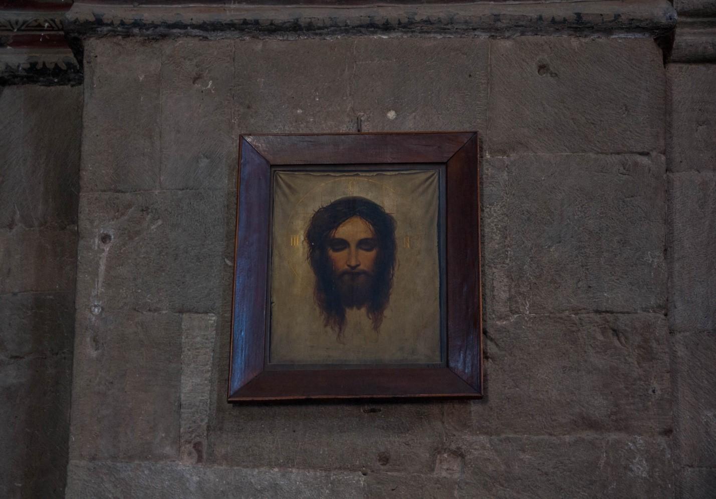 Икона Иисуса в храме Светицховели, Мцхета, Грузия