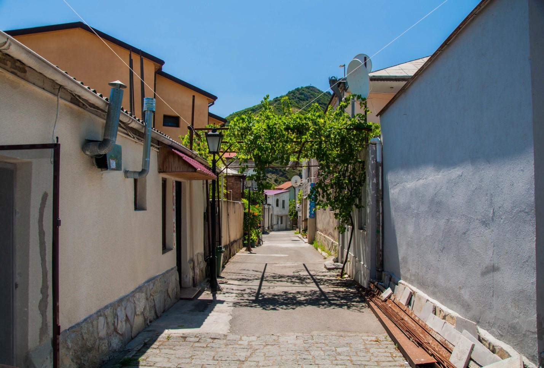 Виноград на улице Мцхеты, Грузия