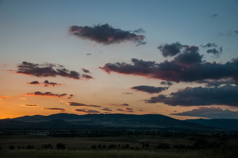 Закат солнца в Грузии