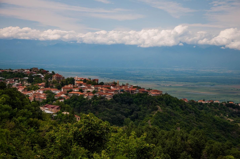 Виды на Сигнахи и Алазанскую долину, Грузия