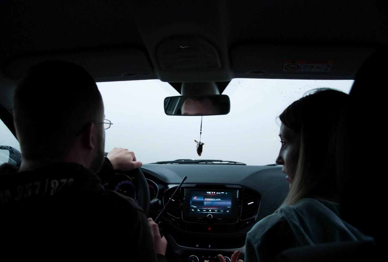 Сильный туман на дороге